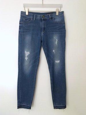 Marc O'Polo Stretch Jeans SKARA HIGH CROPPED blau Gr. 32 M01914112081