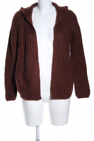 Marc O'Polo Strick Cardigan braun Zopfmuster Casual-Look