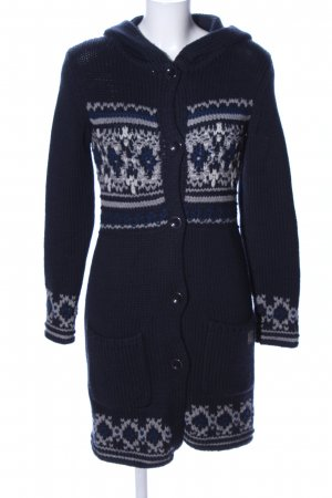 Marc O'Polo Strick Cardigan blau grafisches Muster Casual-Look