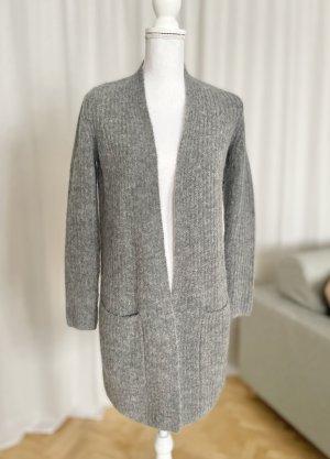 Marc O'Polo Strickjacke grau Wolle Cardigan kuschelig weich Herbst Winter 34 XS XXS 32 NEU