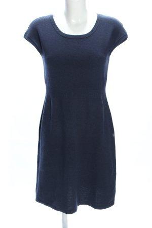 Marc O'Polo Gebreide jurk blauw gestippeld zakelijke stijl