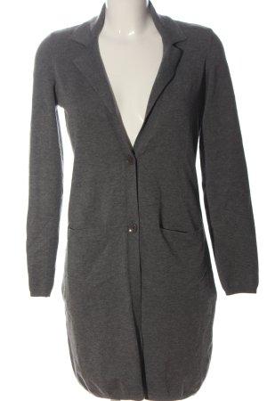 Marc O'Polo Manteau en tricot gris clair moucheté style décontracté