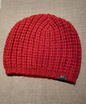 Marc O'Polo Knitted Hat brick red alpaca wool