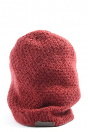 Marc O'Polo Knitted Hat red weave pattern casual look
