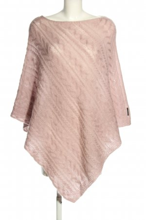 Marc O'Polo Knitted Poncho pink cable stitch casual look