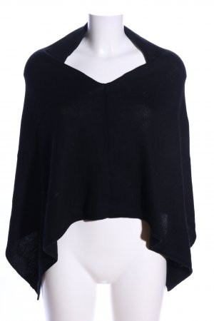 Marc O'Polo Strickponcho schwarz Casual-Look