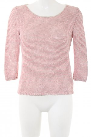 Marc O'Polo Strickpullover pink-wollweiß meliert Casual-Look