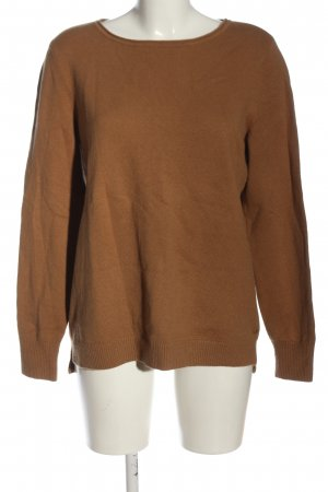 Marc O'Polo Strickpullover braun Zopfmuster Casual-Look