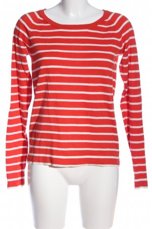 Marc O'Polo Strickpullover rot-weiß Streifenmuster Casual-Look