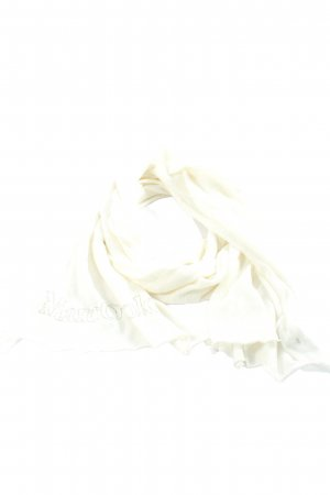 Marc O'Polo Knitted Scarf natural white-black printed lettering casual look