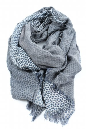 Marc O'Polo Knitted Scarf blue-white allover print casual look
