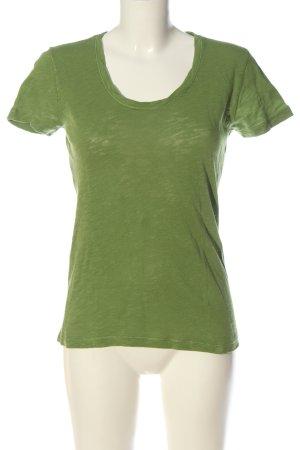 Marc O'Polo Strickshirt grün Casual-Look