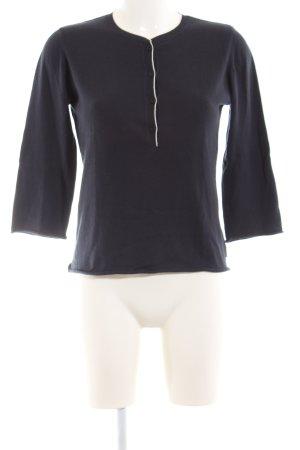 Marc O'Polo Strickshirt blau Casual-Look