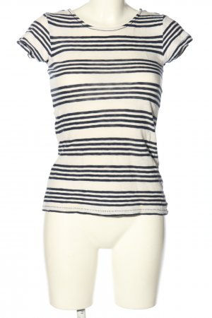 Marc O'Polo Strickshirt creme-schwarz Streifenmuster Casual-Look