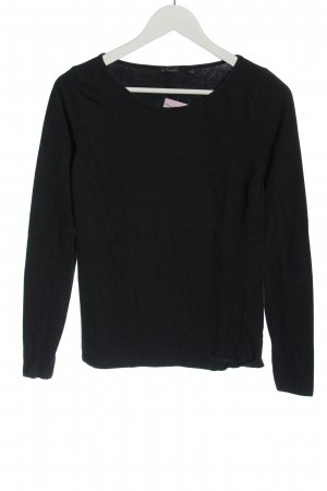 Marc O'Polo Strickshirt schwarz Casual-Look
