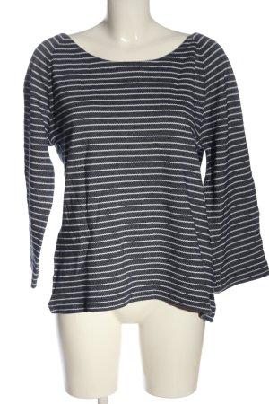 Marc O'Polo Strickshirt blau-weiß Streifenmuster Casual-Look