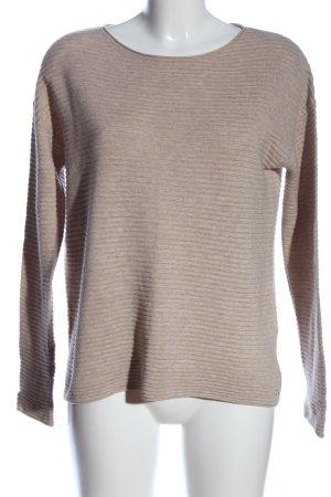 Marc O'Polo Strickshirt nudefarben Streifenmuster Casual-Look
