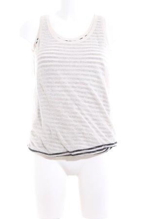 Marc O'Polo Stricktop weiß-schwarz Streifenmuster Casual-Look