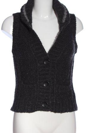 Marc O'Polo Strickweste schwarz Zopfmuster extravaganter Stil
