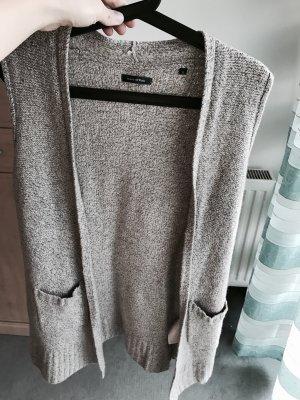 Marc O'Polo Gilet tricoté gris clair-beige