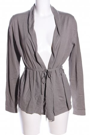 Marc O'Polo Knitted Wrap Cardigan light grey flecked casual look