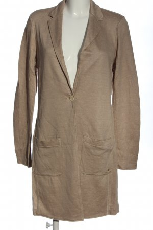 Marc O'Polo Sweatblazer nude gestippeld casual uitstraling