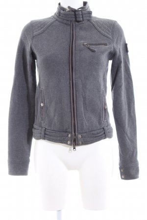 Marc O'Polo Sweatjacke hellgrau meliert Casual-Look