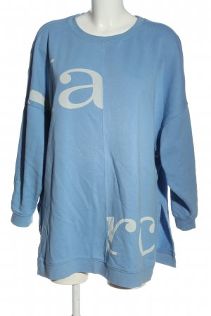 Marc O'Polo Sweatshirt blau Schriftzug gedruckt Casual-Look