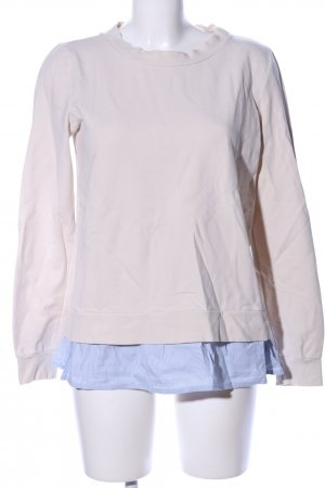 Marc O'Polo Sweatshirt creme-blau Streifenmuster Business-Look