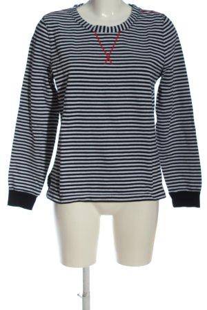 Marc O'Polo Sweatshirt weiß-schwarz Streifenmuster Casual-Look