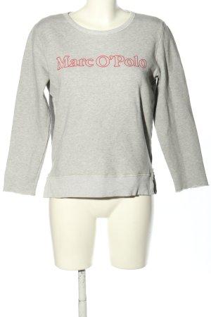 Marc O'Polo Sweatshirt hellgrau-pink meliert Elegant