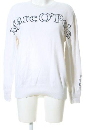 Marc O'Polo Sweatshirt weiß-schwarz Schriftzug gedruckt Casual-Look