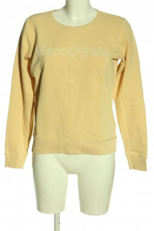 Marc O'Polo Sweatshirt blassgelb Schriftzug gedruckt Casual-Look
