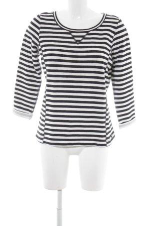 Marc O'Polo Sweatshirt schwarz-wollweiß Streifenmuster Casual-Look