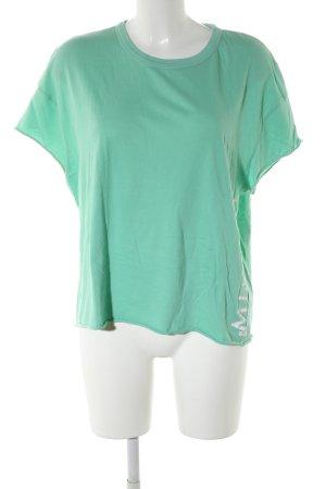 Marc O'Polo T-Shirt grün Motivdruck Casual-Look