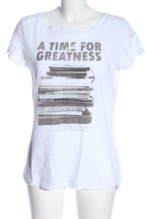 Marc O'Polo T-Shirt weiß-hellgrau Motivdruck Casual-Look