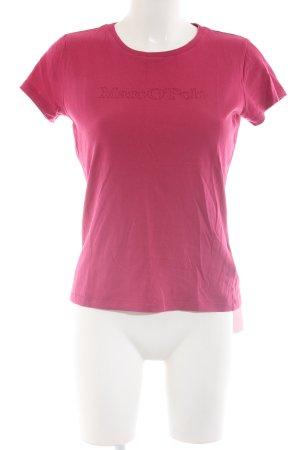 Marc O'Polo T-Shirt rot Schriftzug gedruckt Casual-Look