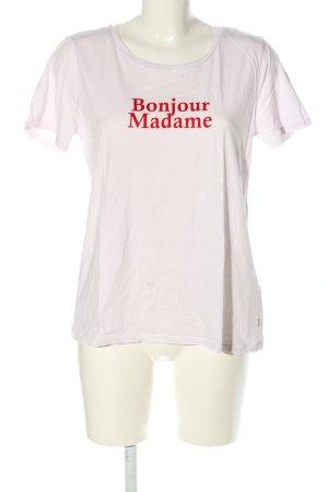 Marc O'Polo T-Shirt weiß-rot Schriftzug gedruckt Casual-Look