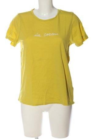 Marc O'Polo T-Shirt blassgelb Casual-Look