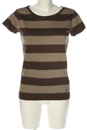 Marc O'Polo T-Shirt braun Streifenmuster Casual-Look