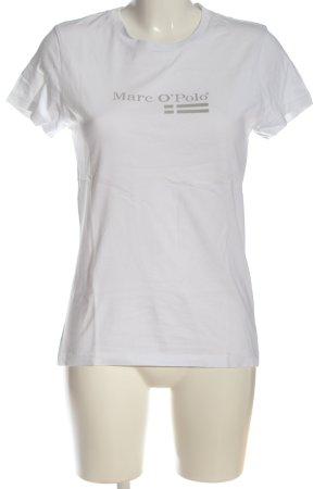 Marc O'Polo T-Shirt weiß-hellgrau Casual-Look