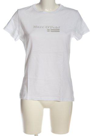 Marc O'Polo T-Shirt weiß Schriftzug gedruckt Casual-Look