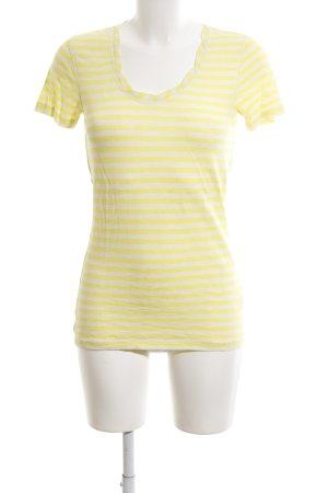 Marc O'Polo T-Shirt blassgelb-weiß Streifenmuster Casual-Look