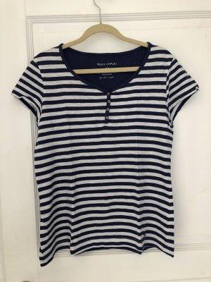 Marc o'Polo T-Shirt blau / weiß gestreift Gr. 38