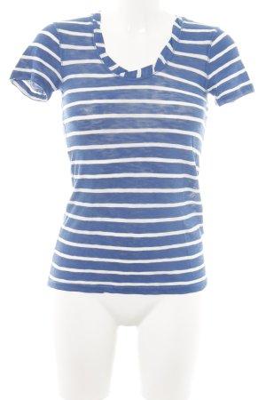 Marc O'Polo T-Shirt blau-weiß Streifenmuster Casual-Look