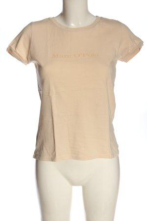 Marc O'Polo T-Shirt nude Schriftzug gedruckt Casual-Look