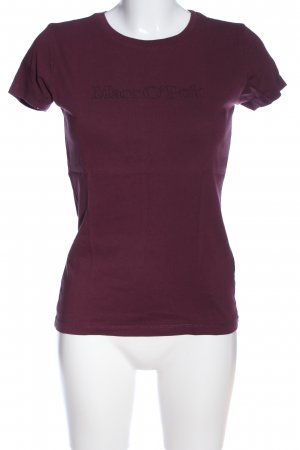 Marc O'Polo T-Shirt lila Casual-Look