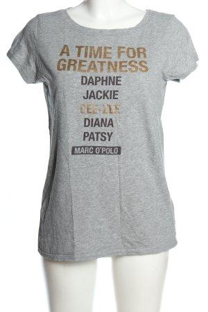 Marc O'Polo T-Shirt hellgrau Schriftzug gedruckt Casual-Look