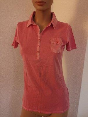MARC O'POLO T-Shirt pink Shabby Look Poloshirt Kragen Gr. S