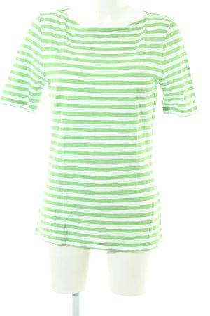 Marc O'Polo T-shirt biały-zielony Wzór w paski W stylu casual